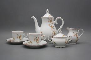 Coffee set Ofelia Tea roses 15-piece HL