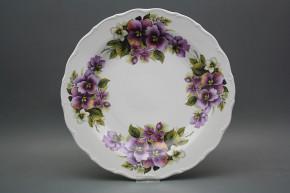 Flat round dish 31cm Verona Pansy EBB