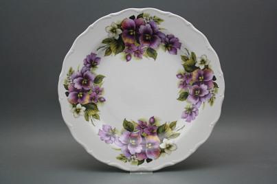 Flat round dish 31cm Verona Pansy EBB č.1