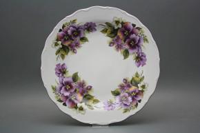 Flat round dish 31cm Verona Pansy EFL