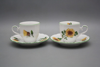 Coffee cup 0,18l and saucer Ofelia Sunflowers ZL č.1