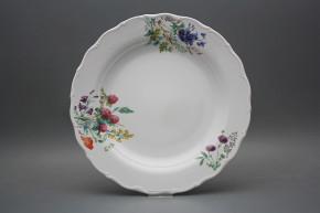 Flat round dish 31cm Verona Flowering meadow CBB