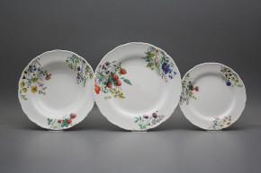 Plate set Ofelia Flowering meadow 18-piece CBB