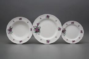 Plate set Ofelia Sweet violets 18-piece KFL
