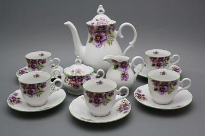 Coffee set Ofelia Pansy 15-piece ZL č.1