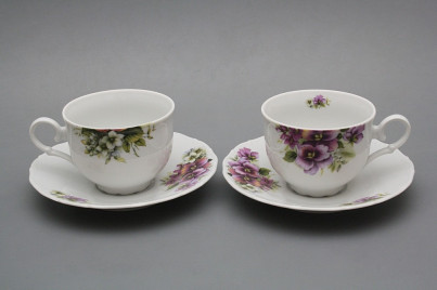 Tea cup 0,18l with saucer Ofelia Pansy BB č.1