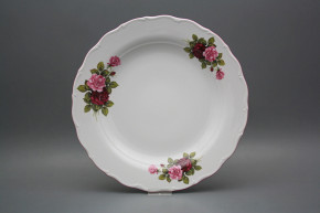 Flat round dish 31cm Verona Elizabeth rose CRL