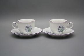 Tea cup 0,18l with saucer Ofelia Lavender FL