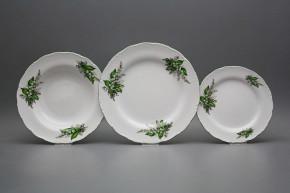 Plate set Ofelia Lillies of Valley 18-piece CZL
