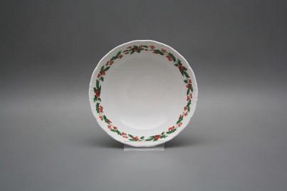 Salad dish 16cm Ofelia Christmas holly BB č.1