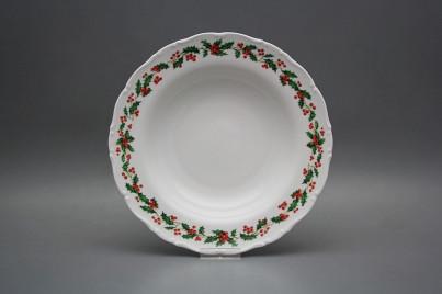 Deep plate 23cm Ofelia Christmas holly BB č.1