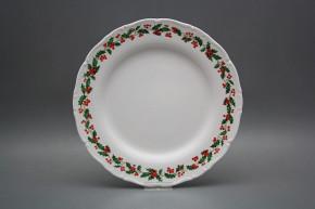 Flat plate 25cm Ofelia Christmas holly BB