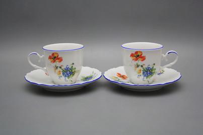 Coffee cup 0,18l and saucer Ofelia Field flowers AL č.1