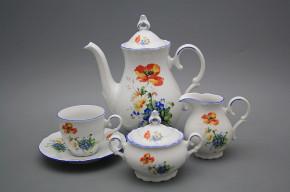 Coffee set Ofelia Field flowers 15-piece AL