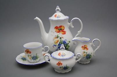 Coffee set Ofelia Field flowers 15-piece AL č.1