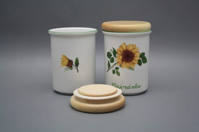 Box with wooden cover C - big Sunflowers ZL č.1