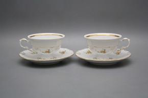 Tea cup 0,16l and saucer Maria Louise Tea roses GL