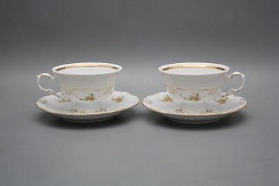 Tea cup 0,16l and saucer Maria Louise Tea roses GL č.1