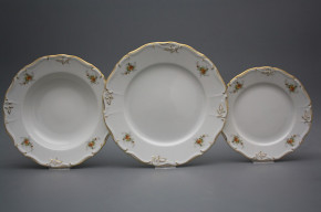 Plate set Marie Louise Tea roses 12-piece GL