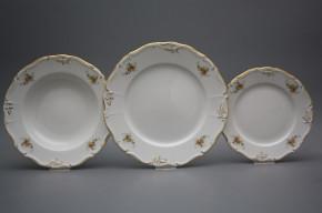 Plate set Marie Louise Tea roses 36-piece GL LUX