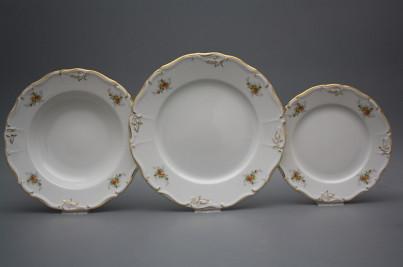 Plate set Marie Louise Tea roses 36-piece GL LUX č.1
