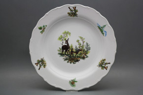 Flat round dish 31cm Verona Doe and fawn FZL