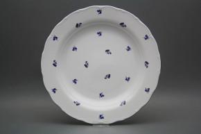 Flat round dish 31cm Verona Meadow flowers Sprays BML