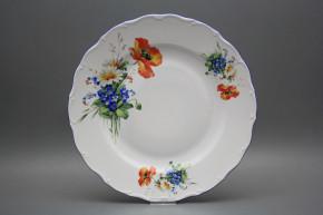 Flat round dish 31cm Verona Field flowers CAL