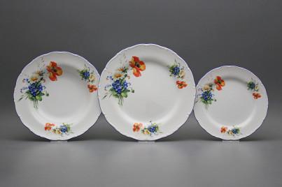 Plate set Ofelia Field flowers 12-piece CAL č.1