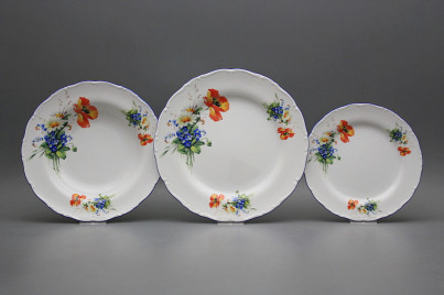 Plate set Ofelia Field flowers 18-piece CAL č.1