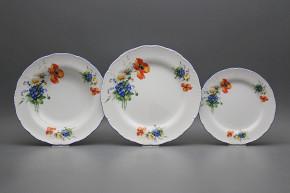 Plate set Ofelia Field flowers 24-piece CAL