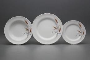 Plate set Ofelia Corn 12-piece HBB