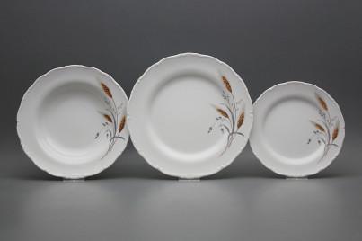 Plate set Ofelia Corn 18-piece HBB č.1