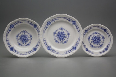 Plate set Maria Teresa Royal Blue 18-piece BB č.1