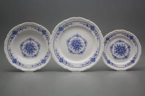 Plate set Maria Teresa Royal Blue 12-piece BB