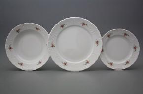Plate set Opera Pink roses 24-piece BB