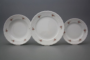 Plate set Opera Pink roses 36-piece BB