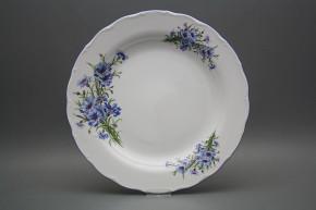 Flat round dish 31cm Verona Cornflowers CAL
