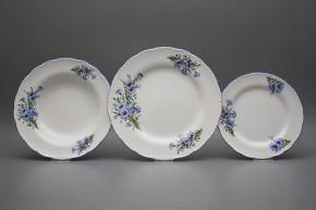 Plate set Ofelia Cornflowers 18-piece CAL