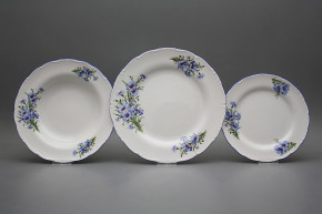 Plate set Ofelia Cornflowers 24-piece CAL