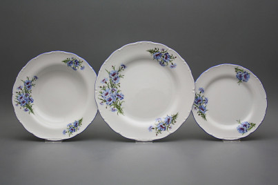 Plate set Ofelia Cornflowers 24-piece CAL č.1