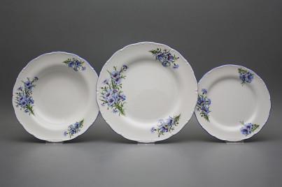 Plate set Ofelia Cornflowers 36-piece CAL č.1