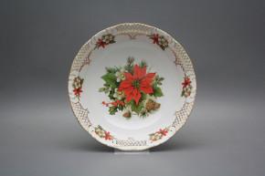 Deep dish 23cm Ofelia Poinsettia FGL Lux