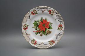 Flat plate 25cm Ofelia Poinsettia FGL Lux