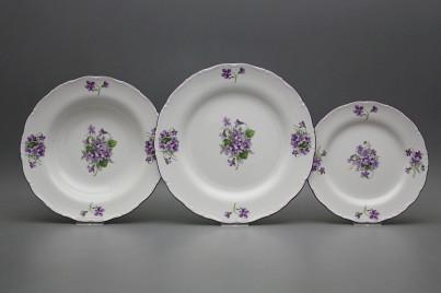 Plate set Ofelia Violets 18-piece GFL č.1