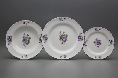 Plate set Ofelia Violets 36-piece GFL č.1