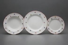 Plate set Ofelia Flower sprays 12-piece ACL