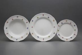 Plate set Ofelia Flower sprays 24-piece ABB