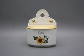 Wall box for sugar with wooden cover Sunflowers ZL
