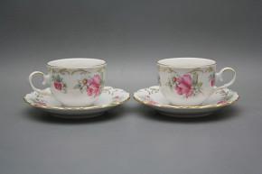 Tea cup 0,18l with saucer Ofelia Delight GL LUX